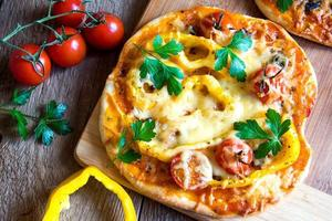 vegetabiliska pizzor foto