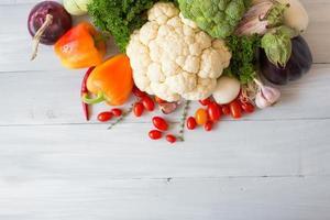 färska grönsaker. foto