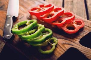 färsk paprika hackad foto