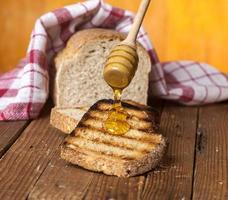 bröd och honung foto