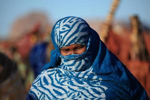 tuareg in der sahara foto
