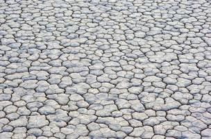 torr och sprucken lerajord i racetrack playa i death valley foto