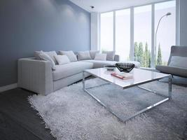 minimalistisk vardagsrumsdesign foto