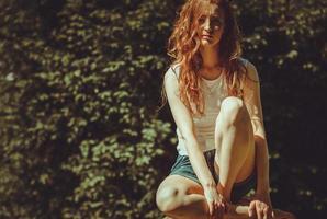 mode modell. vintage. foto