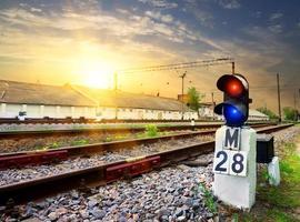 järnvägssemafor foto