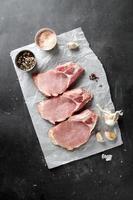 rå färskt kött foto