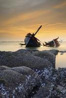 skeppsvrak; Thailand foto