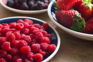 skogsfrukter: hallon foto