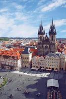 vår fru kyrka före tyn, prag, tjeckiska foto
