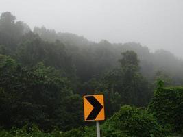 trafikskyltar i dimman