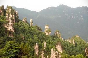 mystiska berg zhangjiajie, Hunan-provinsen i Kina.