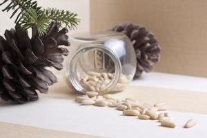 utsäde pinjenötter foto