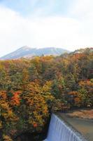 färgglada löv och mt.iwate