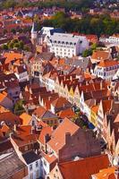 Flygfoto över Brygge foto