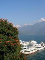 yacht och blommor foto