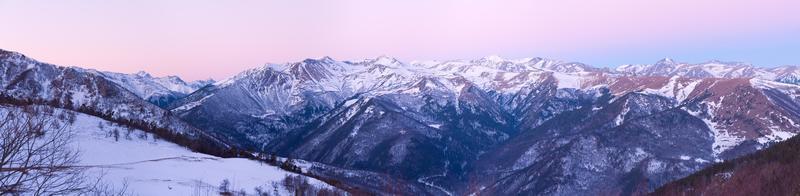 berg morgon panorama