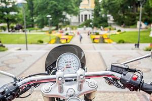 sightseeing från motorcykel