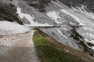 fantastiskt landskap av dolomiterna foto
