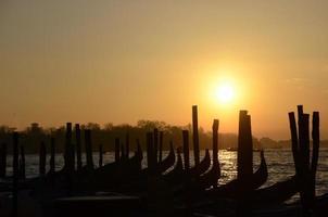 soluppgång i Venedig, Italien foto