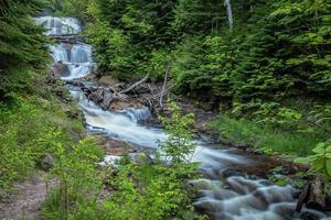 sable falls vattenfall - övre Michigan foto