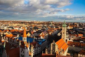 München. Tyskland. Bayern, vy uppifrån foto