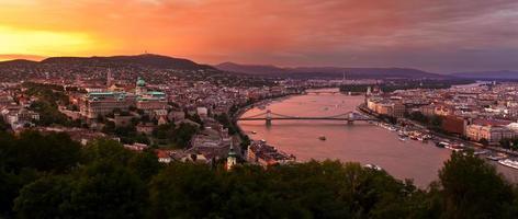 panorama över budapest foto