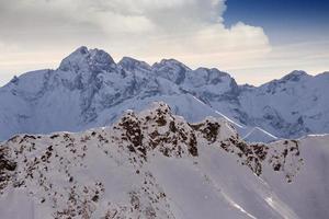 snöiga tyska alperna foto