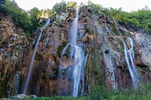 vattenfall i nationalparken Plitvice, Kroatien
