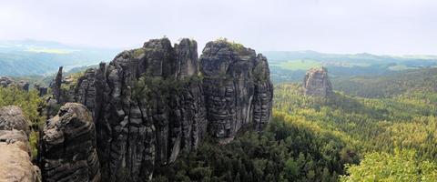 panoramautsikt över winterstein, saxon schweiz