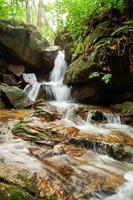 litet vattenfall under regnperioden foto