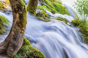 vattenfall i nationalparken Plitvice, Kroatien foto