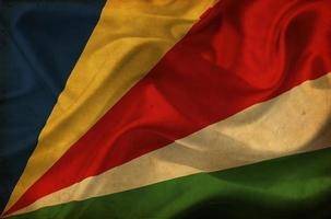 seychellerna viftande flagga foto