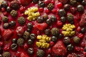 höstfruktbakgrund foto