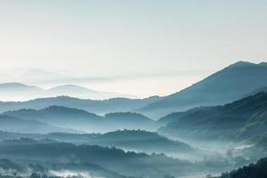 berg, morgon foto