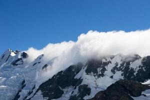 snöiga berg