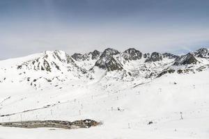 snöiga berg foto