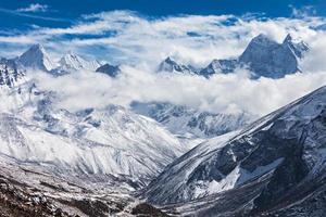 berg, everest region foto