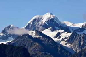 toppen av bergen foto