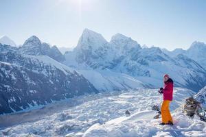 vandring i himalaya bergen foto