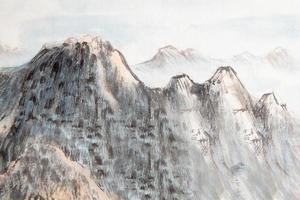 traditionell kinesisk målning, berg foto