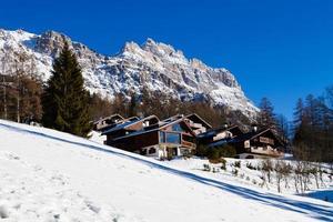 dolomiterna berg, italia, cortina foto