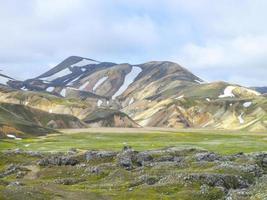 bergslandskap i Island