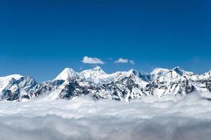 utsikt från cho la pass - nepal foto
