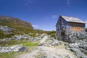 köksstuga, vagga berg Tasmanien. foto