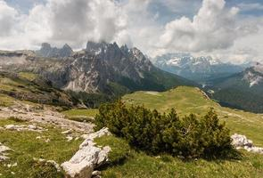 bergskedja i sext dolomiter