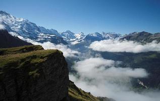 utsikt från Mannlichen vid Berner Alperna (Berner Oberland, Schweiz) foto