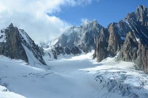 glaciär och toppar