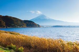 berg fuji på hösten foto
