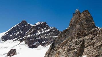 sfinx hög höjd observatorium i Jungfraujoch pass i Schweiz foto
