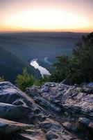 bergstoppsikt med floden
